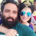 Tia Gandwani with husband