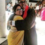 Tulasi Shivamani with her son