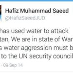 Tweet Of Hafiz Saeed