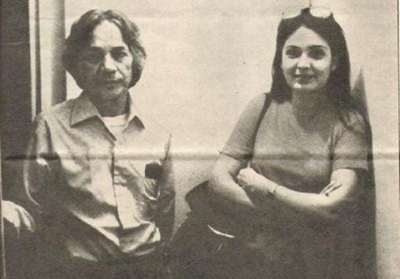 U. G. Krishnamurti With Parveen Babi