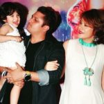 Udita Goswami with her husband and daughter