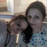 Udita Goswami with mother
