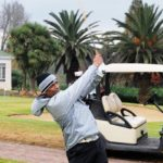 Vernon Philander playing golf