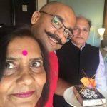 Vijay Vikram Singh with parents