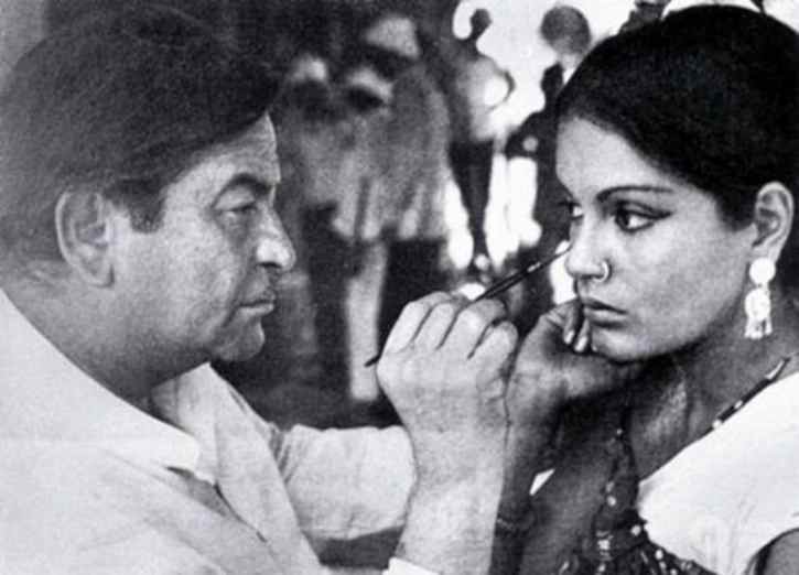 Raj Kapoor and Zeenat Aman