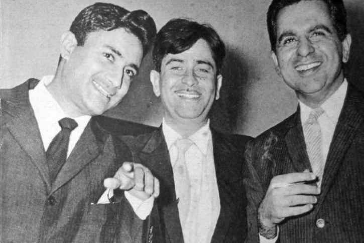 Raj Kapoor with Dev Anand and Dilip Kumar
