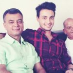 Aayush Sharma with his father and grandfather