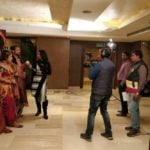 Aditi Arora Sawant Shooting For Her Show