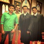 Ajay Kumar Nain with the cast of Adaalat