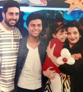 Akshat Rajan with the Bachchans