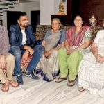 Aniket Choudhary with his parents and grandmothers