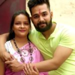 Ankit Saxena with his sister Preeti Saxena