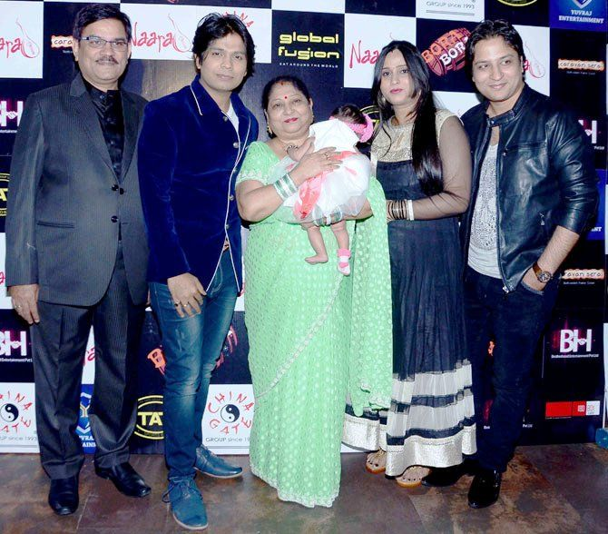Ankit Tiwari with his Father, Mother, Sister-in-Law, and Brother