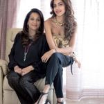 Antara Motiwala with her mother