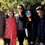 Anukriti Gusain with her family