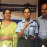 Avani Chaturvedi With Her Parents