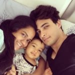 Ayush Sharma with his wife Arpita Khan and son Ahil