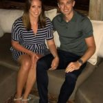 Chris Woakes with his wife Amie Louise Woakes