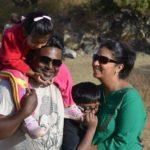 Dibyendu Bhattacharya with his wife and children