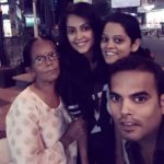 Disha Pandey with her mother, brother, and sister