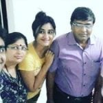 Garima Parihar with her family