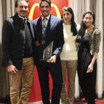 Jason Sangha with his family