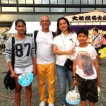 Jay Mehta with his wife and children