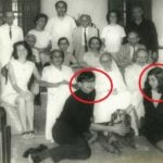 K M Nanavati Family With His Son and Daughter at the Front Row