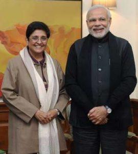 Kiran Bedi With Narendra Modi