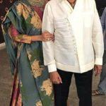 Lakshmi Manchu with father Mohan Babu