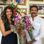 Lakshmi Manchu with her father