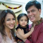 Lakshmi Manchu with her husband and daughter
