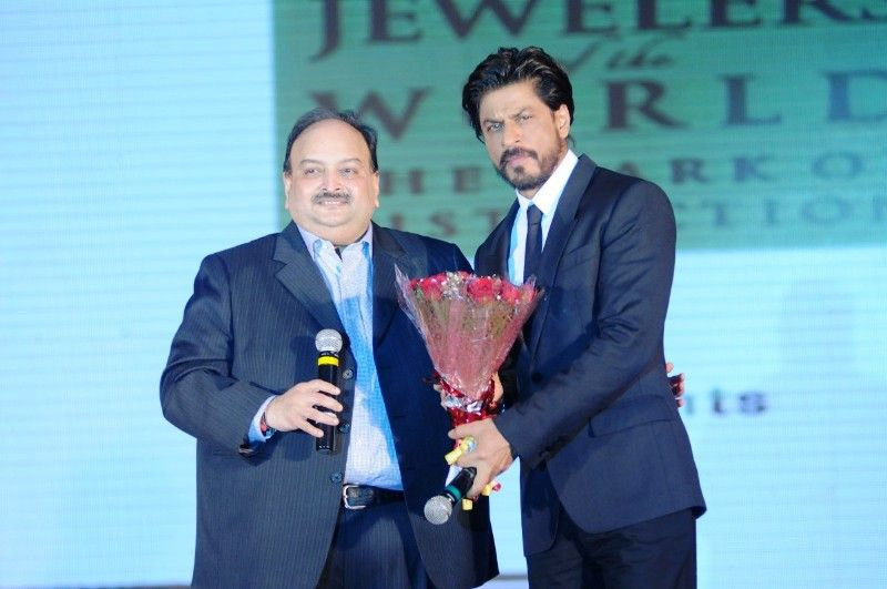 Mehul Choksi With Shah Rukh Khan