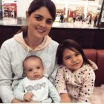 Jessica Bratich Johnson with her children