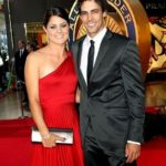 Mitchell Johnson with his wife Jessica Bratich