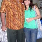 Monaz Mevawala with her father