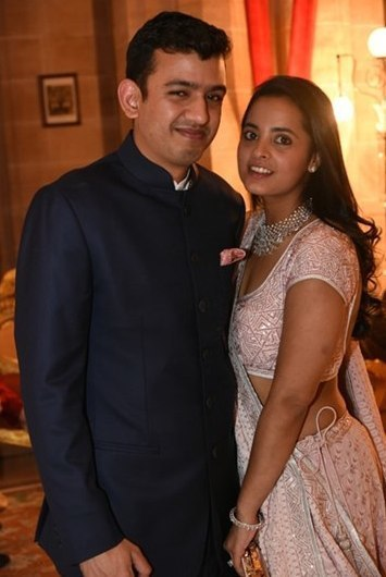 Neeshal Modi With His Wife