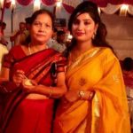 Pallavi Shukla with her mother