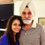 Perneet Chauhan with her father