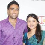 Ravichandran Ashwin with his wife