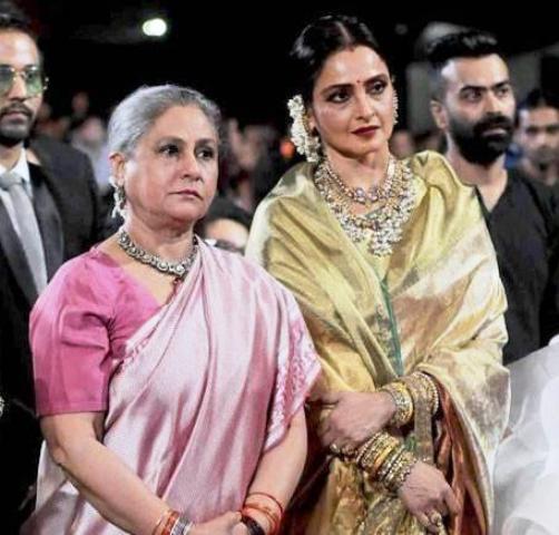 Rekha and Jaya