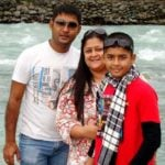 Riyan Parag (Childhood) with his parents