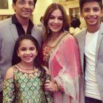Shilpa Tulaskar with her husband and children