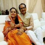 Shivraj Singh Chouhan with his wife