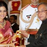 Sridevi with Padma Shri