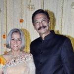 Suresh Oberoi With His Wife Yashodhara
