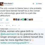 Tweet fight between Esha Gupta and Farhan Azmi