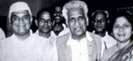 Ujjwala Tiwari with her father (centre) and ND Tiwari (left) in 1970s