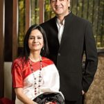 Vikram Chandra With His Wife Seema Chandra