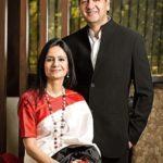 Vikram Chandra With His Wife Seema Chandra